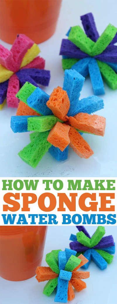 DIY Sponge Water Bombs Long Pin