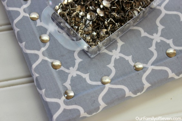Fabric Covered Bulletin Board Super Easy And Inexpensive Home Decor Project