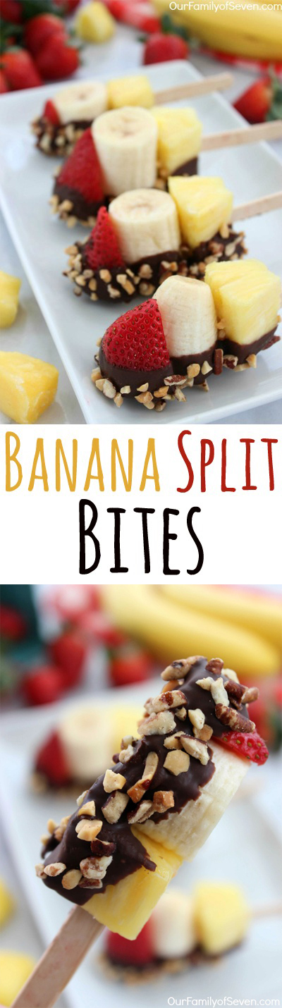 Banana Split Bites- a fun and simple twist on your favorite summer treat.