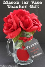Mason Jar Vase Teacher Gift