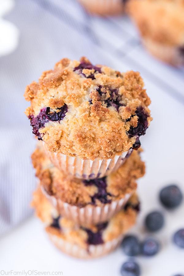 Fresh baked breakfast muffins