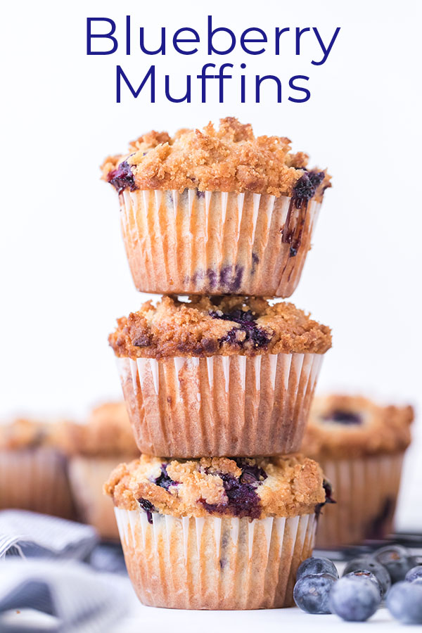 Text on image Blueberry Muffins