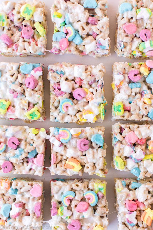 Cereal Bars with Lucky Charms
