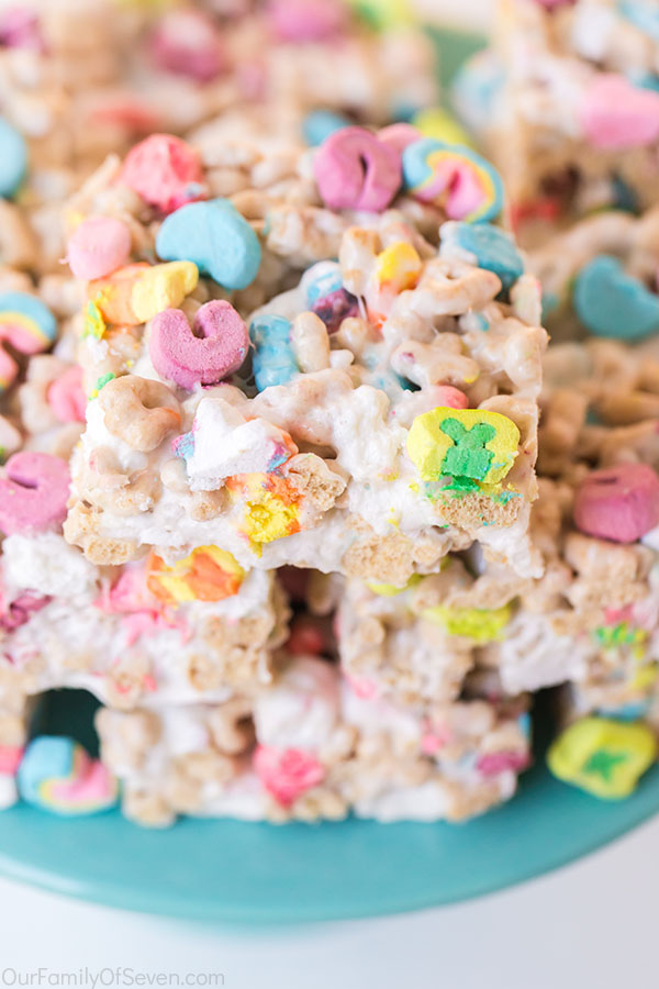 Gooey Cereal Bars with Lucky Charms
