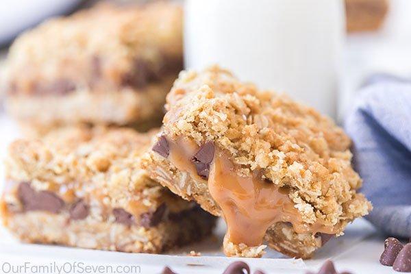 Gooey cookie bars