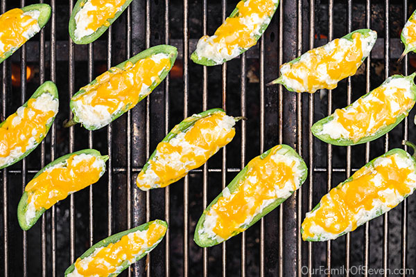 Jalapeno Poppers on grill