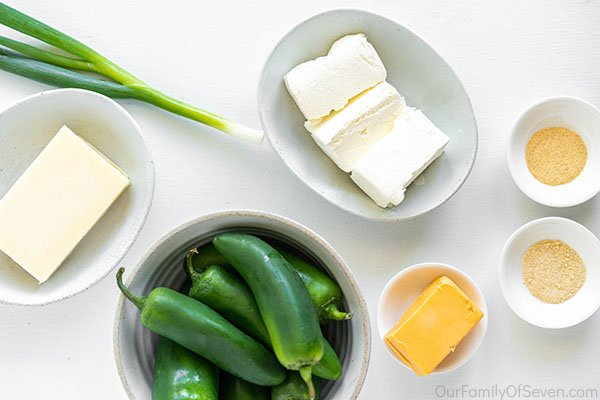 Text on image Cream Cheese Jalapeno Poppers