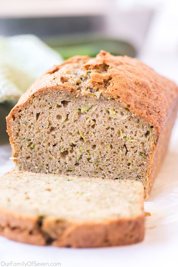 Moist Zucchini Bread sliced